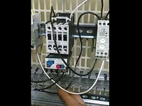 como conectar contactor termico  temporizador youtube