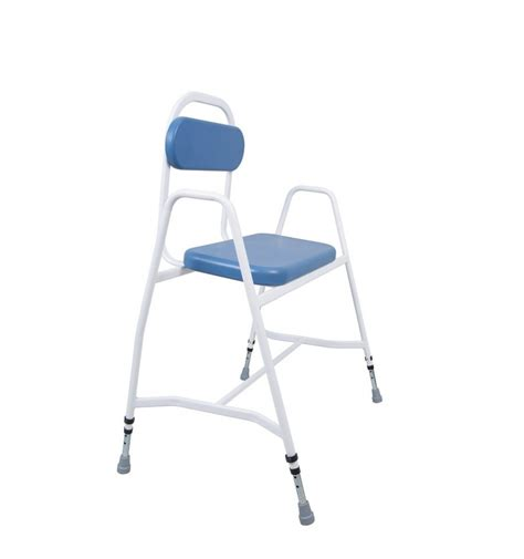 Perching Stool With Back And Arms by Bariatric Perching Stool With Arms And Padded Back