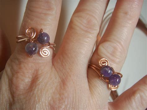 Make Handmade Rings - how to make a copper wire ring handmade spark