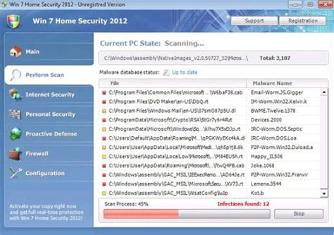 win 7 home security 2012 how to remove 2 viruses