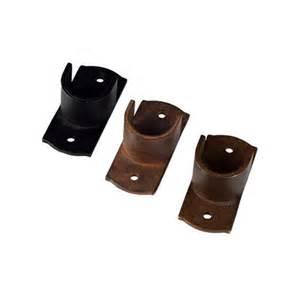 Iron Drapery Rings 1 Inside Mount Curtain Rod Socket Bracket Buycurtainrod Com