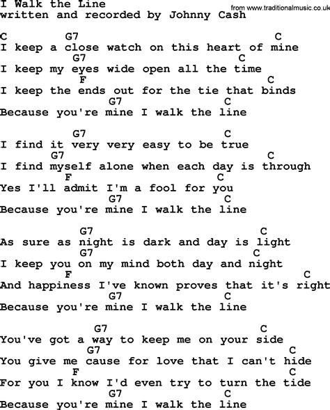 tattoo chords and lyrics i walk the line by johnny cash guitar chords guitar