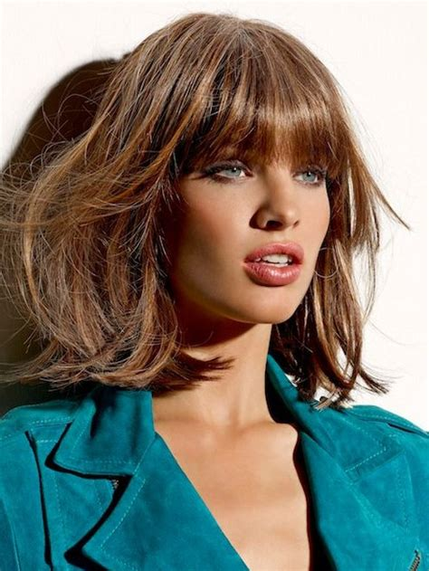 med blumt hairstyles 12 fabulous medium hairstyles with bangs pretty designs