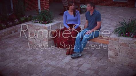 pavestone rumblestone bench planter youtube