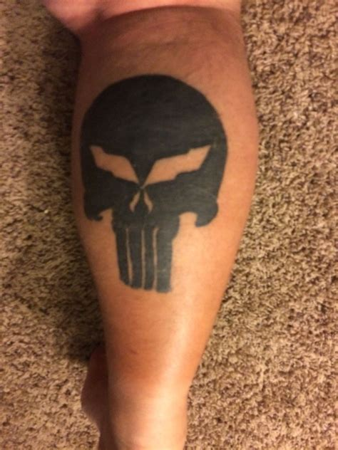 tattoo healing month this is my c5 corvette punisher tattoo after a few