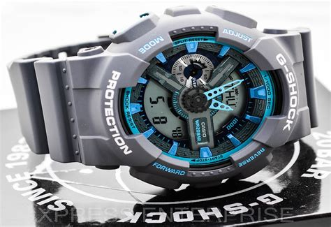 G Shock Time Grey Black casio gshock ga110ts 8a2 review how to set time lig