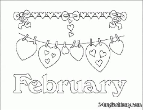 february color february coloring pages coloring pages