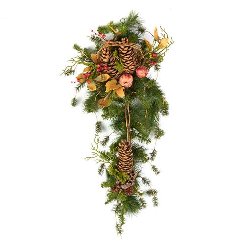 artificial pine teardrop swag floral sale sales