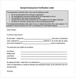 Employment Verification Letter Pdf Sample Proof Of Employment Letter 9 Download Free Documents In Pdf Word