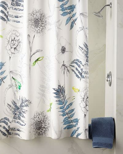 horchow shower curtains designer shower curtains fabric floral at horchow
