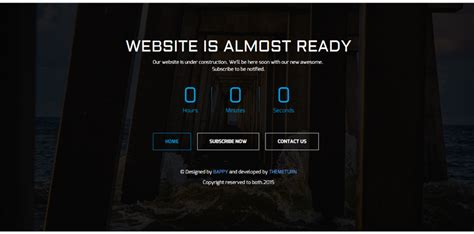 free responsive coming soon page template choice image