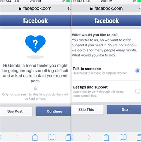 fb help facebook is adding a new feature to help with suicide