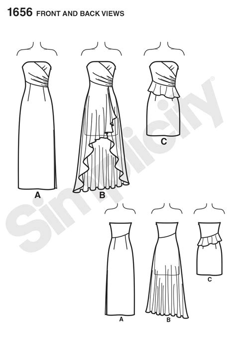 pattern review best of 2013 simplicity 1656 misses formal dress