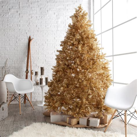 classic chagne gold full pre lit christmas tree
