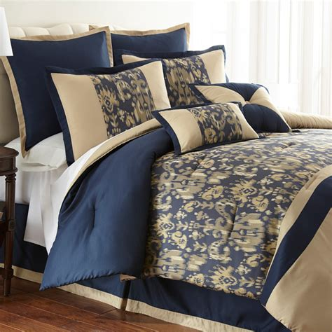 amanda blue damask 8 piece comforter set contemporary
