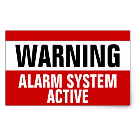 Nursery Security Stickers warning alarm system active stickers zazzle co uk
