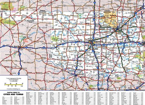 map oklahoma cities towns large detailed roads and highways map of oklahoma state