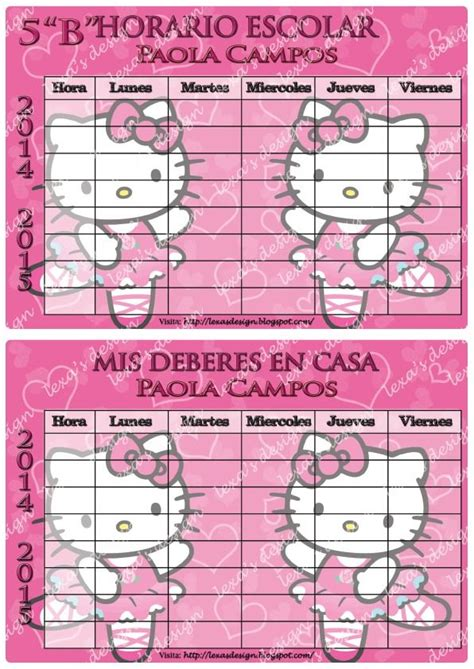 imagenes de hello kitty redondas 17 best images about horarios escolares on pinterest