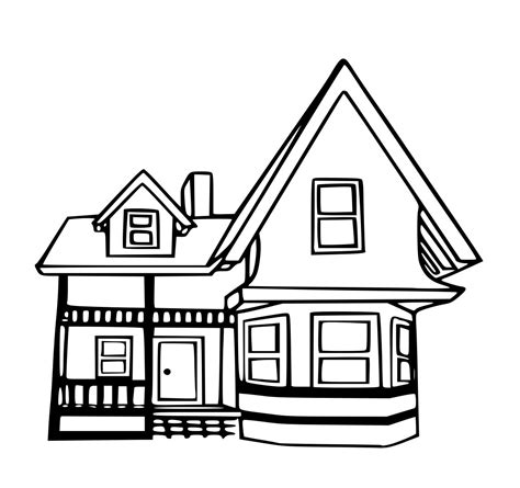Drawing Up by Up House Coloring Page School Room