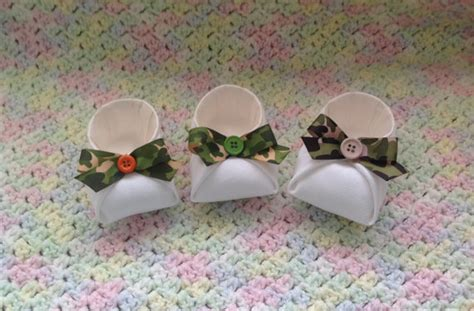 baby shower favors baby booties party favor camo baby
