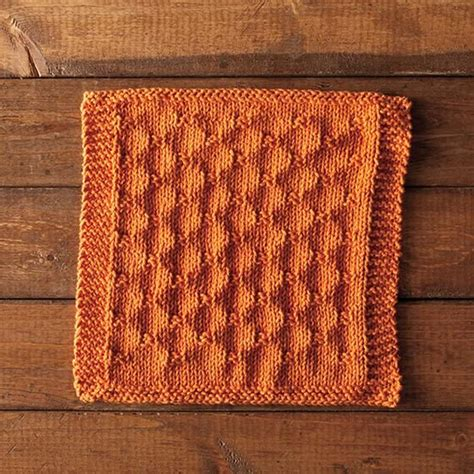 knitted chainmail pattern chain link dishcloth by stacey winklepleck free pattern