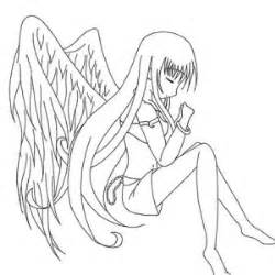angel and devil anime love coloring pages coloring pages