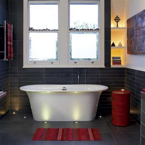 dark red bathroom red and black bathroom bathrooms design ideas