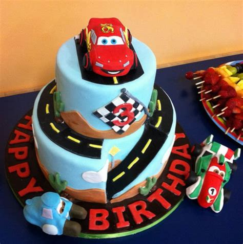 Cars Themed Birthday Cake Ideas by 2 Tier Cars Theme Birthday Cake For 3 Year Jpg 1 Comment