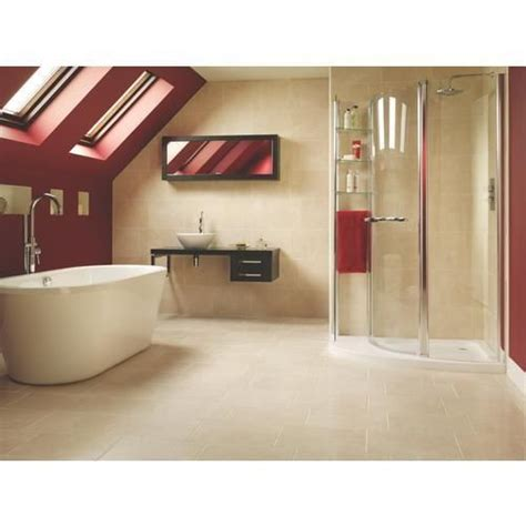 wickes wall tiles bathroom crema marfil stone eff tiles 30x40 pk8 ceramic floor
