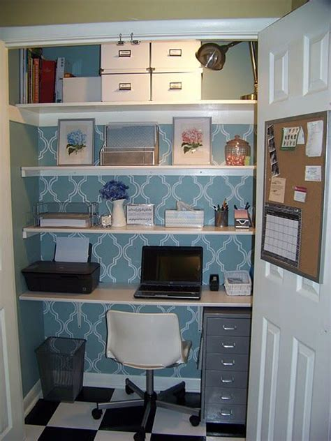 Office Desk In Closet Get Organized In A Small Space With A Cloffice Office