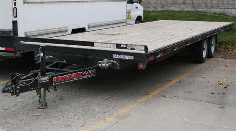 flat bed trailer 24 10 000 lb flatbed trailer rental tandem axle wood