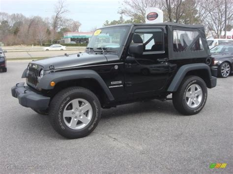Black Jeep 4x4 Black 2012 Jeep Wrangler Sport 4x4 Exterior Photo
