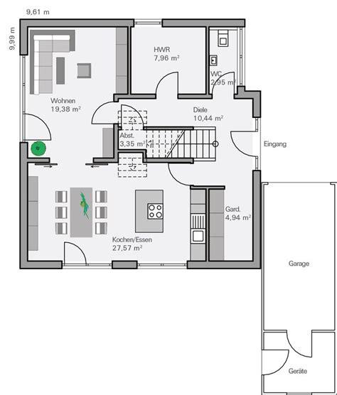 haus 9x11 grundriss einfamilienhaus modern gerade treppe emphit