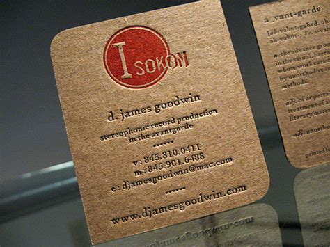 Craft Paper Business Cards - kraft paper business cards 14 eye catching exles