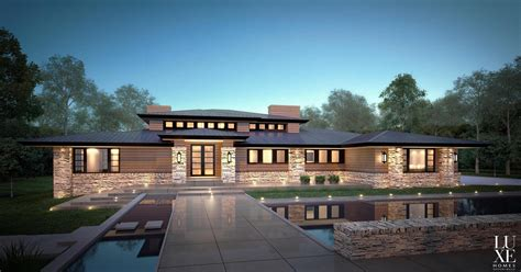 modern prairie style homes modern prairie house prairie house chateau home luxe house elevations