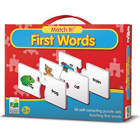 Learning Puzzle match it words learning puzzle educational toys
