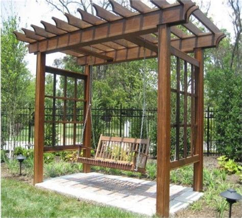 pergola swing set 17 best ideas about arbor swing on outdoor