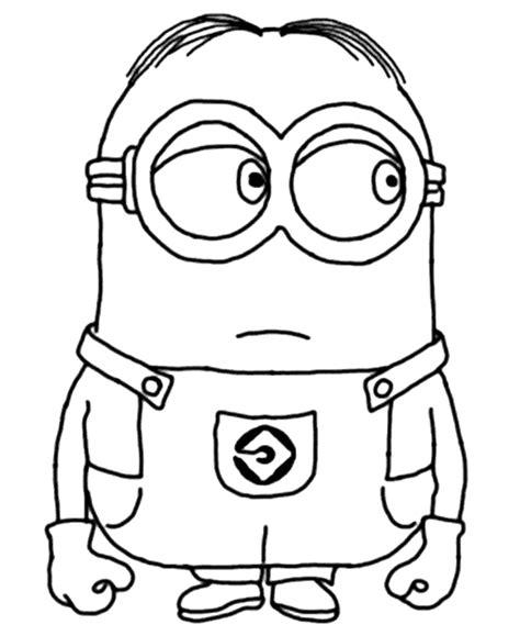 imagenes para colorear de minions dibujo para colorear del personaje mark de los minions