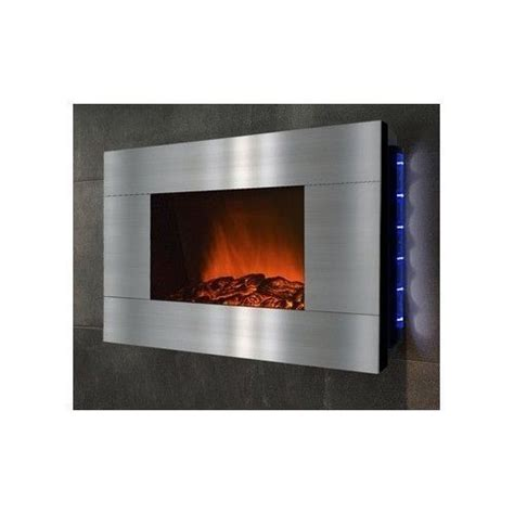 wall mount stainless steel electric fireplace heater decor