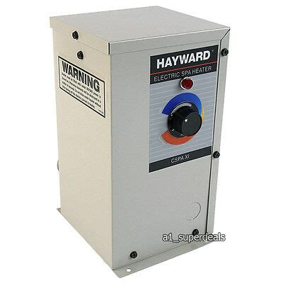 hayward electric heater cspaxi11 hayward comfortzone electric spa heater tub 11kw
