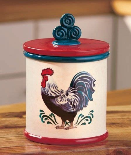 country decor rustic red rooster ceramic kitchen canister top 32 ideas about canisters jars containers on