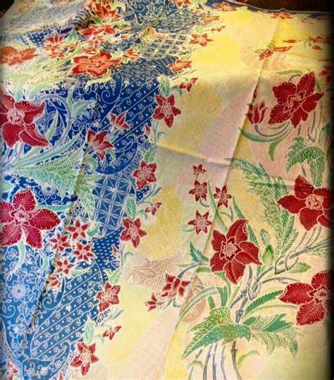 Kain Batik Pekalongan K54 Bahan Katun Prima Halus jual kain batik halus encim pekalongan kualitas prima motif dafodil mapple shop