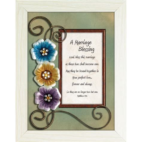 Wedding Blessing At Home by A Marriage Blessing Framed Christian Tabletop Home Dcor