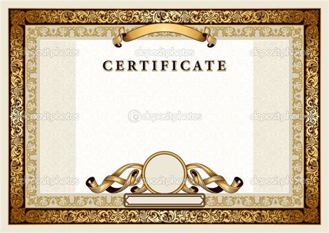 gold certificate template 18 vector certificate border templates shotgun images
