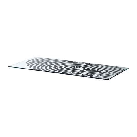 ikea glass top glasholm table top glass fingerprint pattern ikea