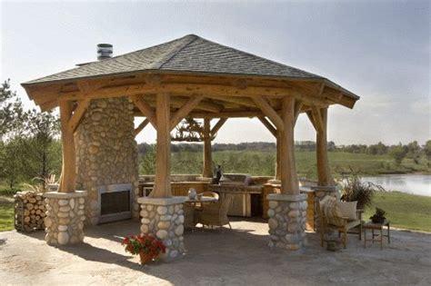 gazebo tv gazebo with a kitchen and a tv hybrid log homes 1 2