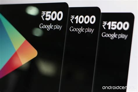 Gift Card India - google play gift cards are now available in india android central