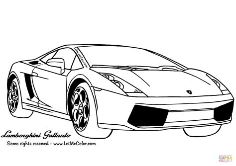 printable coloring pages lamborghini lamborghini gallardo coloring page free printable