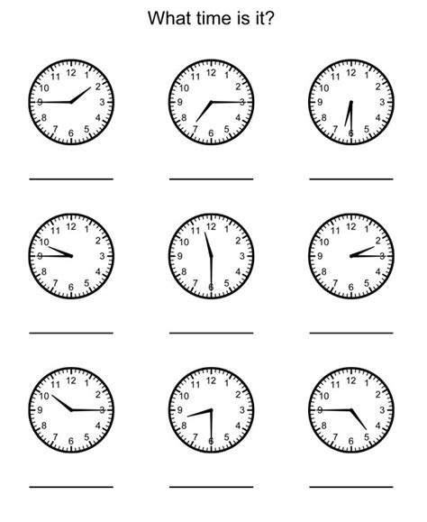 telling time worksheets for 2nd grade 18 best images of 5 minutes clock time worksheets 2nd
