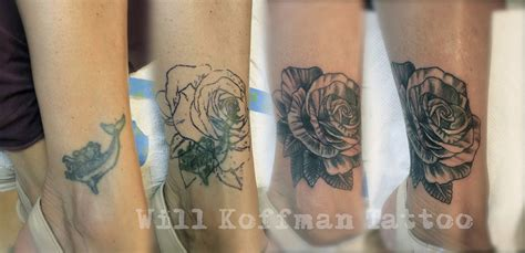 how to cover up a rose tattoo will koffman coverup framed owl